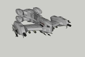 Heavy Fighter Concept by spyderrock48