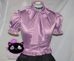 Frill collar Blouse by Ridikittydesign