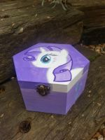 Rarity wooden jewelry box handpainted by LightningChaser