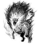 Flaming Lion by dcbats2000
