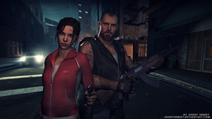 Zoey and Francis - Left 4 Dead by JhonyHebert