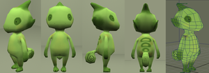 Low poly Chameleon by sw33t-roll