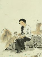 Chinese Girl Sitting Alone by catherinejao