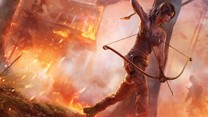 Tomb Raider 2013 Bow and Arrow Wallpaper by PabelR7