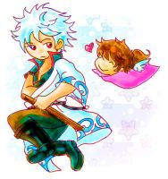 Tori and Gintoki by summer-birds