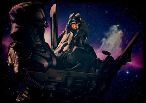 Tali and Legion by diman-cool