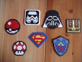 Hama beads coasters by capricornc5