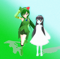 MMD Darah and PoCHoMa by MonoShuga