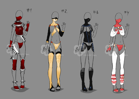 Some Outfit Adopts #10 - sold by Nahemii-san