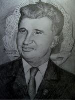 Nicolae Ceausescu by MegaDrawer02