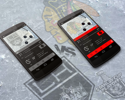 L.A. Kings vs. Chicago Blackhawks - Themes by marcco23