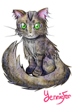 Mew the Maine Coon (Speedpaint in description!) by FaithWalkers