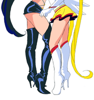 Sailor legs - Fighter and SM by Nightfable