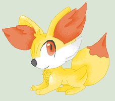 Fennekin Pixel by Pseudo-Legend