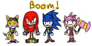 Sonic boom scribble by HoneyFuckingLicious
