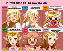 Zelda Reaction: Link Almost Killed Zelda by alienhominid2000