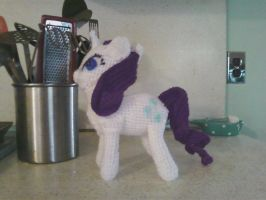 Rarity Amigurumi (Side View) by 2DCuttlefish