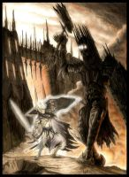 Fingolfin vs. Morgoth II by EthalenSkye