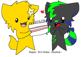 Happy Birthday Shadow by KittenthePsycho