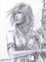 FFXIII Lightning portrait by Antonios-Arts
