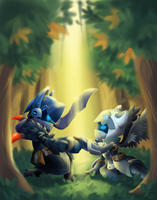 Spiral Knights - AlinaFoxglove Art Trade by snowcube94