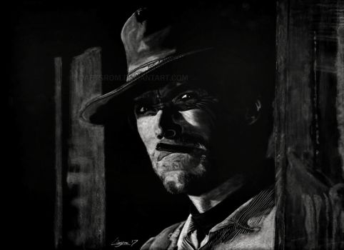 Clint Eastwood drawing by Darstrom