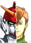 Gundam Wing Art Card 03 by TwinEnigma