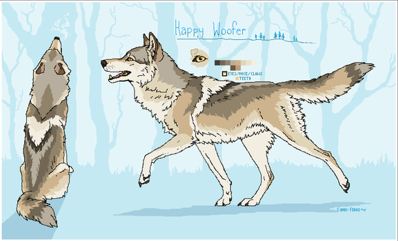 [CLOSED] Happy woof - Wolf Adoptable by Canis-ferox