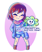 Flowey's logic (?) by watermelonium