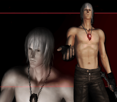 Devil May Cry 3 SE - Shirtless DMC3 Dante by Elvin-Jomar