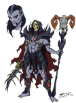 Skeletor Anime-Style redesign by JazylH