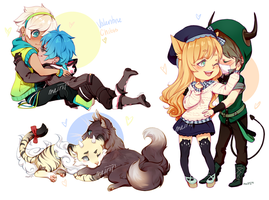 YCH COUPLE CHIBIS [Finished] by Meirii