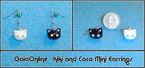 Gaia Cats Mini Earrings by YellerCrakka