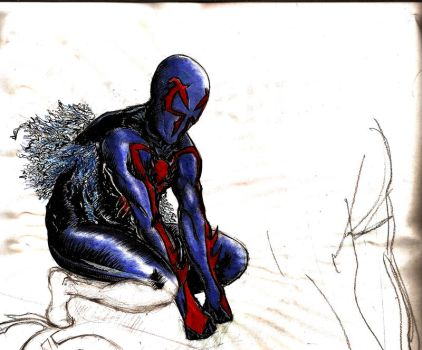 Spiderman 2099 by PetroSatyricon