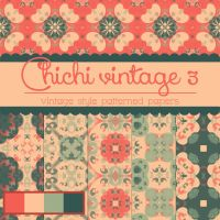 Free Chichi Vintage 3 Patterned Papers by TeacherYanie