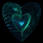 Recycled Glass Heart by GraphicLia