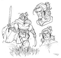 DRAGONERO - Ian sketches 2011 by DenisM79