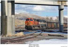 BNSF 5108 + 9557 by hunter1828
