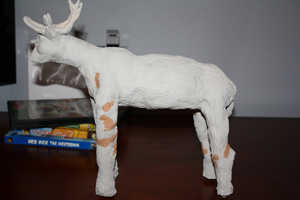 Deer Sculpture by MEWillow
