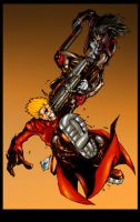 Vash vs. Grave by blackpoint