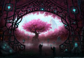 Entrance To The Sacred Tree II by Industrial-Forest