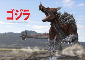 G:Heritage - Anguirus Concept Art by LDN-RDNT