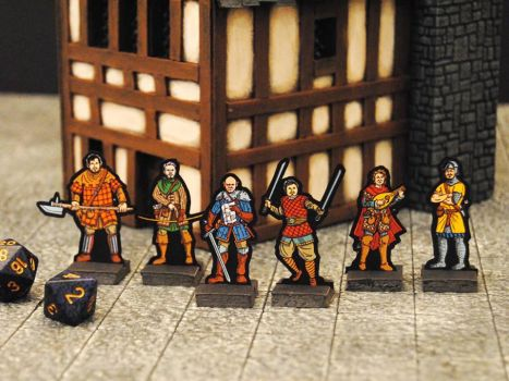 Adventurer Paper Miniatures by StuartRobertson