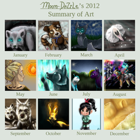 Summary of Art - 2012 by Moon-DaZzLe