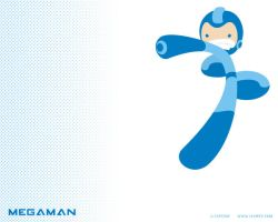 megaman wallpaper by ivanev