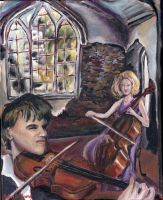 Duet for Violin and Cello by Sketchee