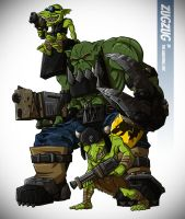 ZugZug the Ork - coloured by LaughingOrc