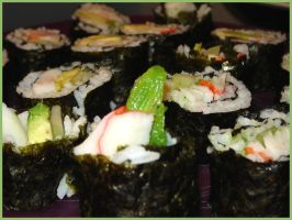 Funny Sushi by lepizzagirl