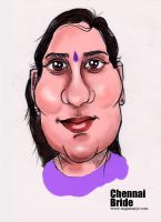 Chennai Bride by caricature-artist