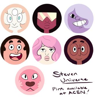 Steven Universe Buttons! by Simatra